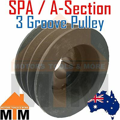 SPA A section V Belt Pulley 3-Groove w/ taper lock to suit