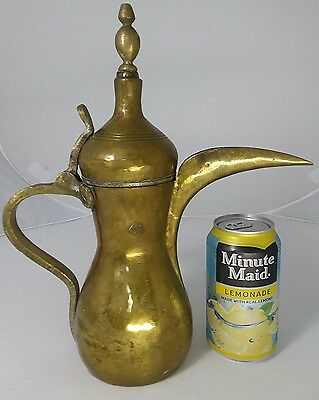 Large Antique Islamic Bedouin  Dallah Tea Coffee Pot Middle Eastern الحمد للة