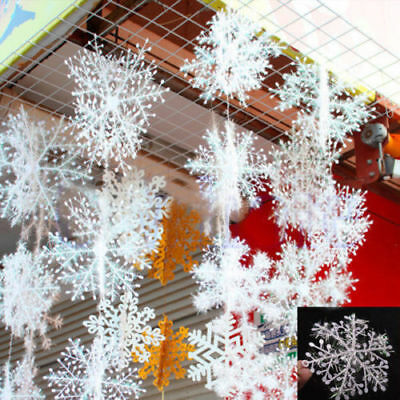 30Pcs Christmas Snowflake Decoration Hoilday White Tree Home Ornaments 11cm