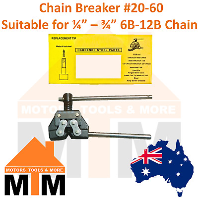 Chain Breaker #20-60 Suitable for 1/4''-3/4'' 6B-12B Chains