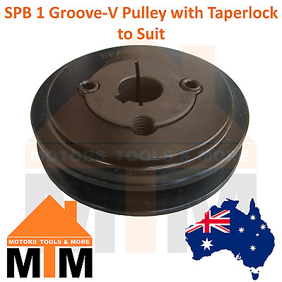 SPB B-section 1 Groove V Belt Pulley w/ taper lock to suit