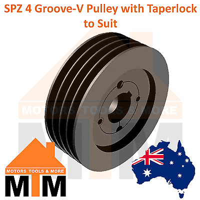 SPZ Z-section 4 Groove V Belt Pulley w/ taper lock to suit
