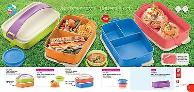 click to go stackable bento lunch box 4 + 4 free 1 Tupperware