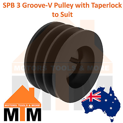 SPB B-section 3 Groove V Belt Pulley w/ taper lock to suit
