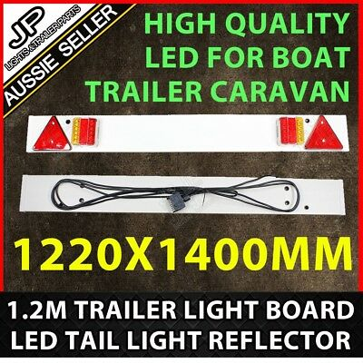 1.2m Trailer Light Board Fast Fit for boat cycle carrier Trailer Cable flat plug