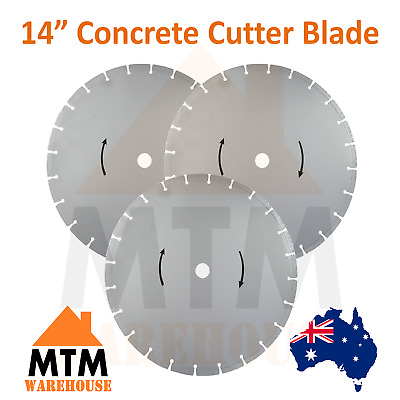 "14"" Wet Demolition Saw Concrete Road Brick Pavement Cutter Saw Blade"