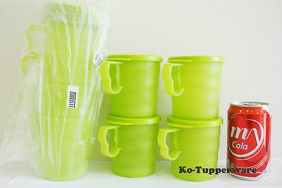 2 sets Blossom Mugs & Seals green casual entertaining 350ml Tupperware