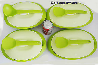1 set Blossom Microwaveable serveware green casual entertaining Tupperware