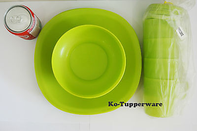 1 full package Blossom Microwaveable plates bowls mugs entertaining Tupperware