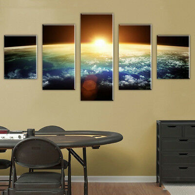 Modern Wall Hanging Canvas Picture Art Print Painting Home Decor Sunrise-S
