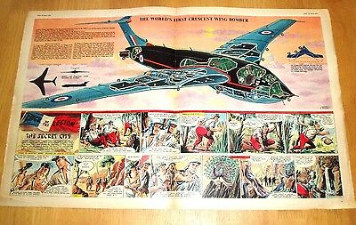 Handley Page  Victor  1St Ever Crescent Winged Bomber  Eagle Cutaway  26/3/1954