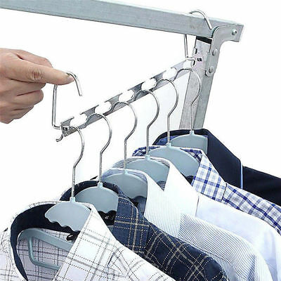 Space Saved Hanger Multi Function Clothes Rack Hook Hangers Stainless Steel Tool