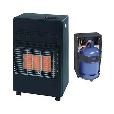 4.2Kw Calor Gas Portable Cabinet Heater Fire Butane 3 Heat With Regulator Hose