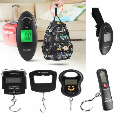 Mini Electronic Scale Portable Weight Luggage LCD Digital Travel Hanging Hooks