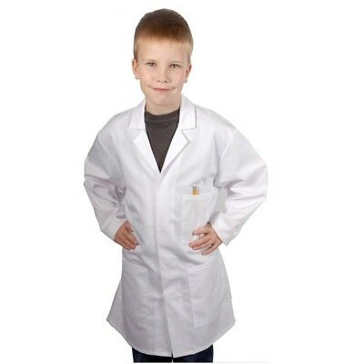 Kids Doctors Scientist White Lab Coat Childrens Girls Boys Fancy Dress Costume