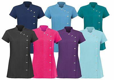 Ladies SPA Beauty Salon Tunic shirts Nail Massage Therapist Uniform in 10 Colour