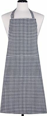 Black Blue Gingham Apron For Chefs Butcher Home Kitchen Cooking Craft Baking Bbq