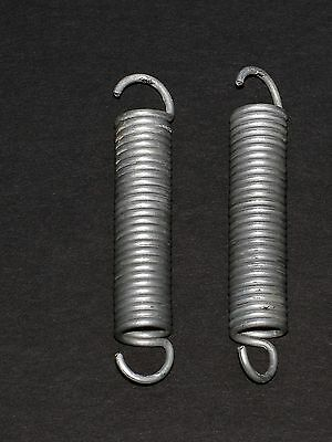 TWO large replacement zinc-coated steel springs for SOFA BED / folding bed