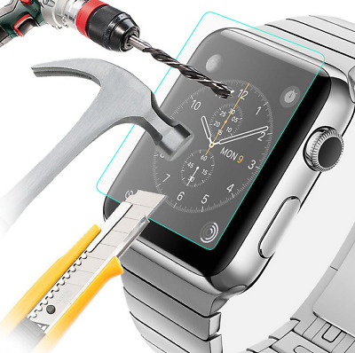 (3 Pack) For All Apple Watch Series 1/2/3 Tempered Glass Screen Protector