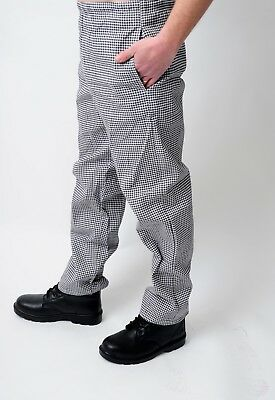 Chef Trousers Gingham Black/white Check Chef Pants Uniform Unisex