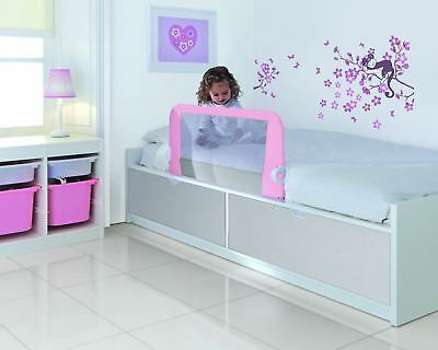 Lindam Toddler Easy Fit PINK - Bed Rail Guard  Bedtime Toddler Safety