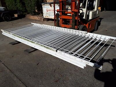 Pool Fencing - Flat Top / Fineline - White - 14.4m