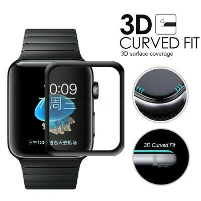 For Apple Watch Series 1/2/3 Tempered Glass Screen Protector Full border Edge