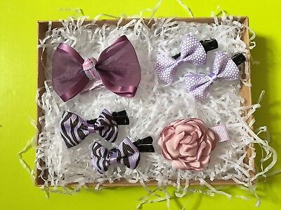 girls red purple dark red pink dusky pink navy blue hair Clips Bows Accessories