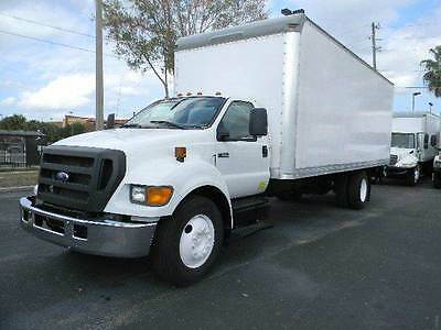 2007 Ford F-650 ~ 24Ft Box Truck ~ Lift Gate ~ Low Miles ~ Cummins  Diesel