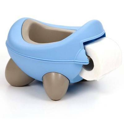 Kids Kit Baby Bug Potty Pale Blue and Beige Ages 12m+ With Toilet Roll Holder