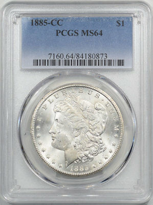 1885-Cc Morgan Dollar Pcgs Ms-64.  Another Coin From The Reeded Edge!
