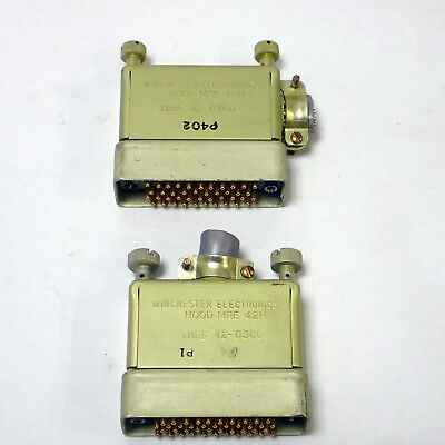 Lot Of 2 Winchester Male Connectors  Hood Mre 42H-I & Hood Mre 42H