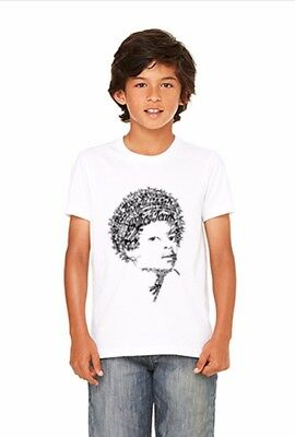 Unisex Youth Michael Jackson Themed Typography Legends White T-Shirt