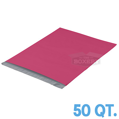 50 - 19x24 PINK POLY MAILERS ENVELOPES BAGS 19 x 24 - 2.5MIL The Boxery