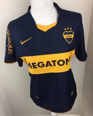 Cabj Boca Juniors Argentina Home Football Shirt Jersey Size Medium Nike