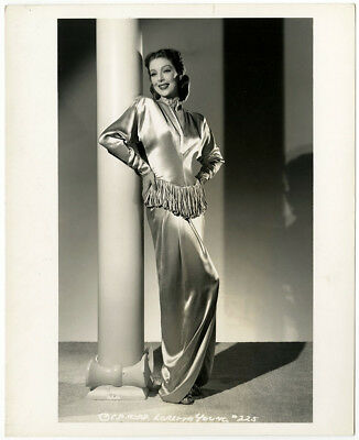Loretta Young Vintage 1941 Sophisticated Glamour Fashion Photograph A.L. Schafer