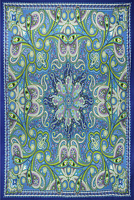 Infinity Star Indian Yoga Tapestry Beach Sheet w// Corner Loops 60x90 Inches