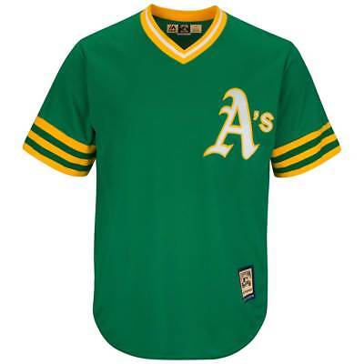 Majestic Oakland Athletics Cooperstown Cool Base MLB Trikot Road Grün