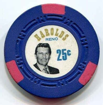 A classic 25c casino chip from Harolds Club in Reno NV!