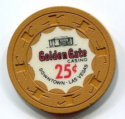 A classic 25c casino chip from the Golden Gate in Las Vegas NV!