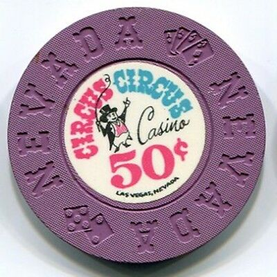 A classic 50c casino chip from the Circus Circus in Las Vegas NV!