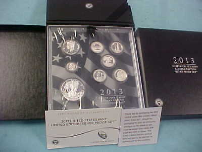 2013 Limited Edition Silver Proof Set With Original Box Coa & Inner Sealed Coins