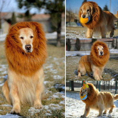Pet Costume Lion Mane Wigs Hair For Large Dogs Halloween Clothes Fancy Dress Up