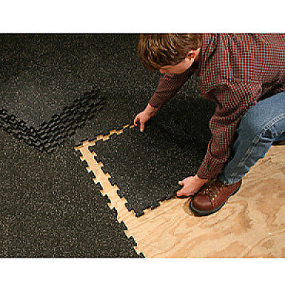 """Supermats Heavy Duty Interlock Flooring System-6 Pack-Covers 58.5"""" X 39.0"""" Space"""