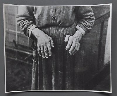 Russell Lee Vintage Silver Gelatin Photo 24x20 An old womans hands Family of Man
