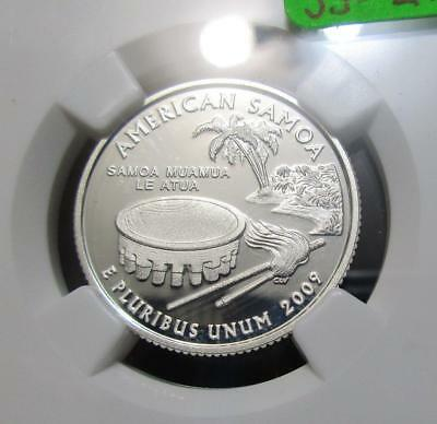 2009S American Samoa Silver Quarter   NGC PF69UC  Awesome Example.      #JJ-Z25