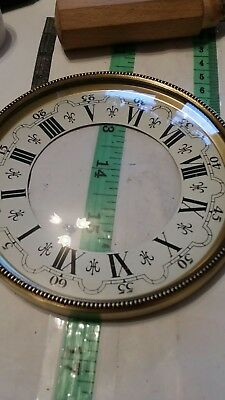 antique style clock face plate and Glass( hinged) new old stock