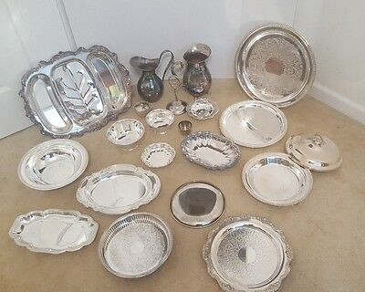 Silver Plated Mixed Assorted Items Lot