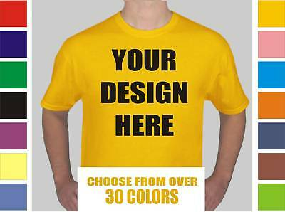 50 Custom Screen Printed T-Shirts 1 side/2 colors OR 1 color/2 sides- $4.65 each