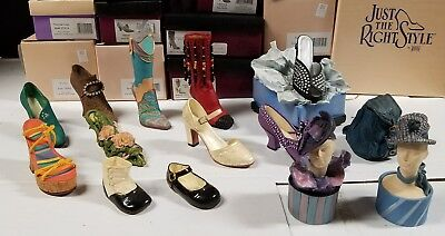 Just The Right Shoe By Raine LOT OF 10 SHOES 2 Ringbox, 1 Purse & 1 Music Box T